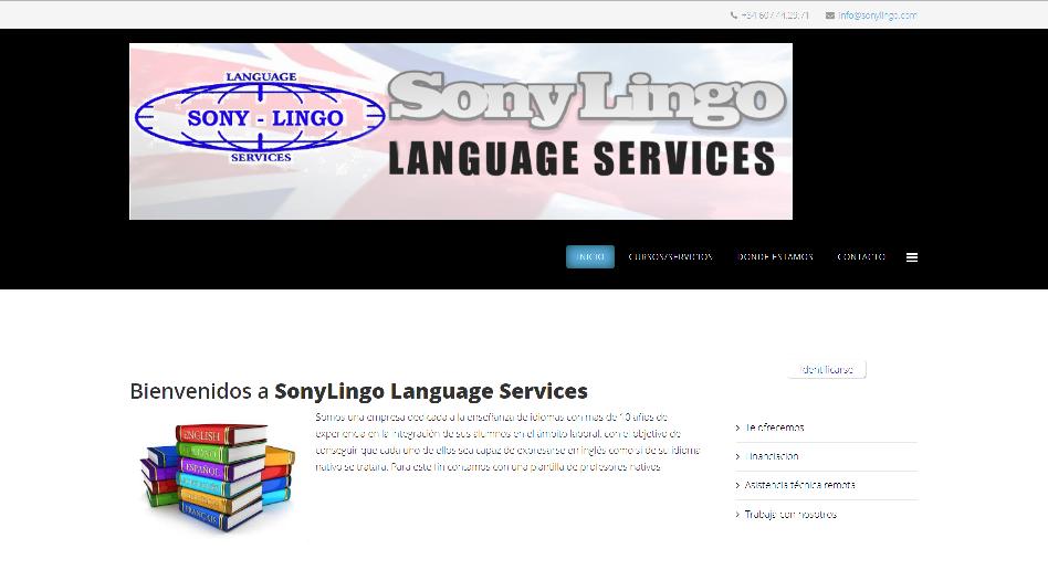 Sonylingo Language Services es una empresa dedicada a la enseñanza de idiomas